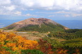 Mt. Azumakofuji of tinted autumn — Stock Photo