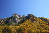Autumn crag mountain — Stock Photo