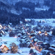 light up of shirakawago — Stock Photo
