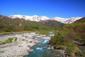 Giappone Alpi e fiume — Foto Stock