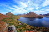 Autumn colours of Mountain and lake — Stock Photo