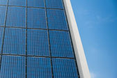 Blue solar cells panel — Stock Photo