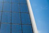 Blue solar cells panel — Stock Photo