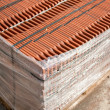 Stack of roofing tiles packaged — Stok fotoğraf