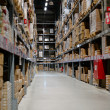 Large and tall full warehouse — Stock Photo