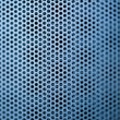 Blue construction metal grill — Stock Photo
