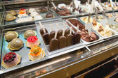 Variety of sweets products at cafe — Stock Photo