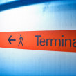 Terminal direction — Stock Photo