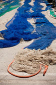 Fishing nets in port — Stock Photo