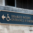 Stock Photo: Disabled handicap entrance entrance sign