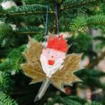 Handmade Christmas Santa portrait — Stock Photo #36954287