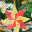 Stock Photo: Christmas star from used plastic