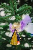 Christmas ängel leksak från används plast — Stockfoto