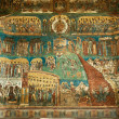 Foto de Stock  : Voronet Monastery - Last Judgement painting