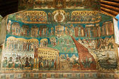 Voronet Monastery - Last Judgement painting — Stock Photo