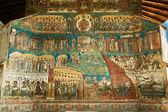 Voronet Monastery - Last Judgement painting — Stock Photo