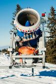 Snow gun frontal view — Stock Photo