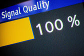 Signal quality 100 percent — Stock Photo