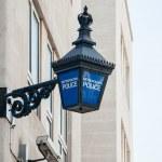 Metropolitan Police lantern in London — Stock Photo #40635297