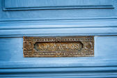 Vintage French letterbox — Stock Photo