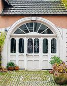 Large luxury eleegant front door — Stock Photo