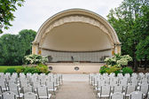 Band shell outdoor amphitheater — Stock Photo