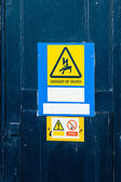 Electrical hazard labels — Stock Photo