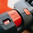 Hammer drill button set to perforator — Stock Photo #42752295