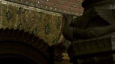 Religious mosaic of a prayer — Stock Video