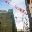 Crane at reconstruction site — Stock Photo