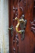 Golden door handle  — Zdjęcie stockowe