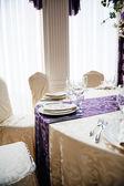 Wedding reception table  — Stockfoto