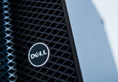 Dell logo on a server — Stock Photo