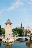 Pont Couverts and Cathedral in Strasbourg, France — Stockfoto