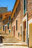 Colorful street in mediterranean — Foto Stock
