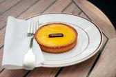 French citron pie - tarte au citron — Stock Photo