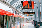 TLR metro tube red train in station — Stock Photo