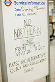 London Tube station message — Stock Photo