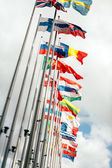 European Union Parliament all countries flags — Stock Photo