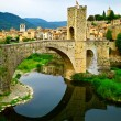 Besalu medieval village — Stock Photo