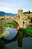Besalu medieval village — Stock Photo