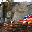 Stock Photo: Buddhimages in Gal Vihartemple, Polonnaruwa, Sri Lanka