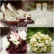 Wedding white collage — Stock Photo