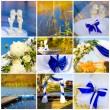 wedding collage — Stock Photo