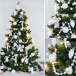Christmas tree collage - Stock Photo