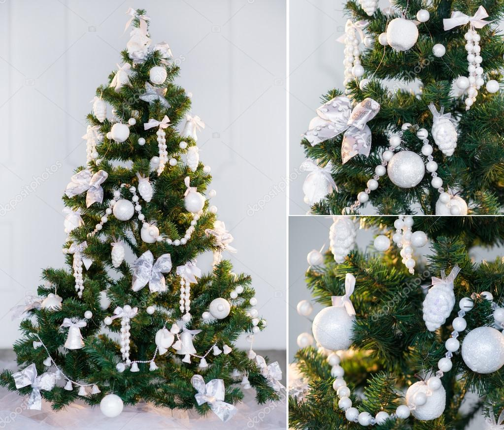 Christmas tree collage stock photo zoiakostina 16958727 for Green and white decorated christmas trees