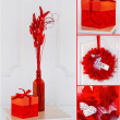 Valentine's collage in red — Stock Photo #19119485