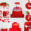 Red Valentine's collage — Stock Photo