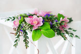 Pink orchid wreath — Stock Photo