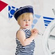 Stock Photo: Little sailor fashion